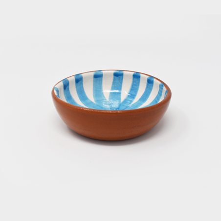 Striped mini bowl – aqua